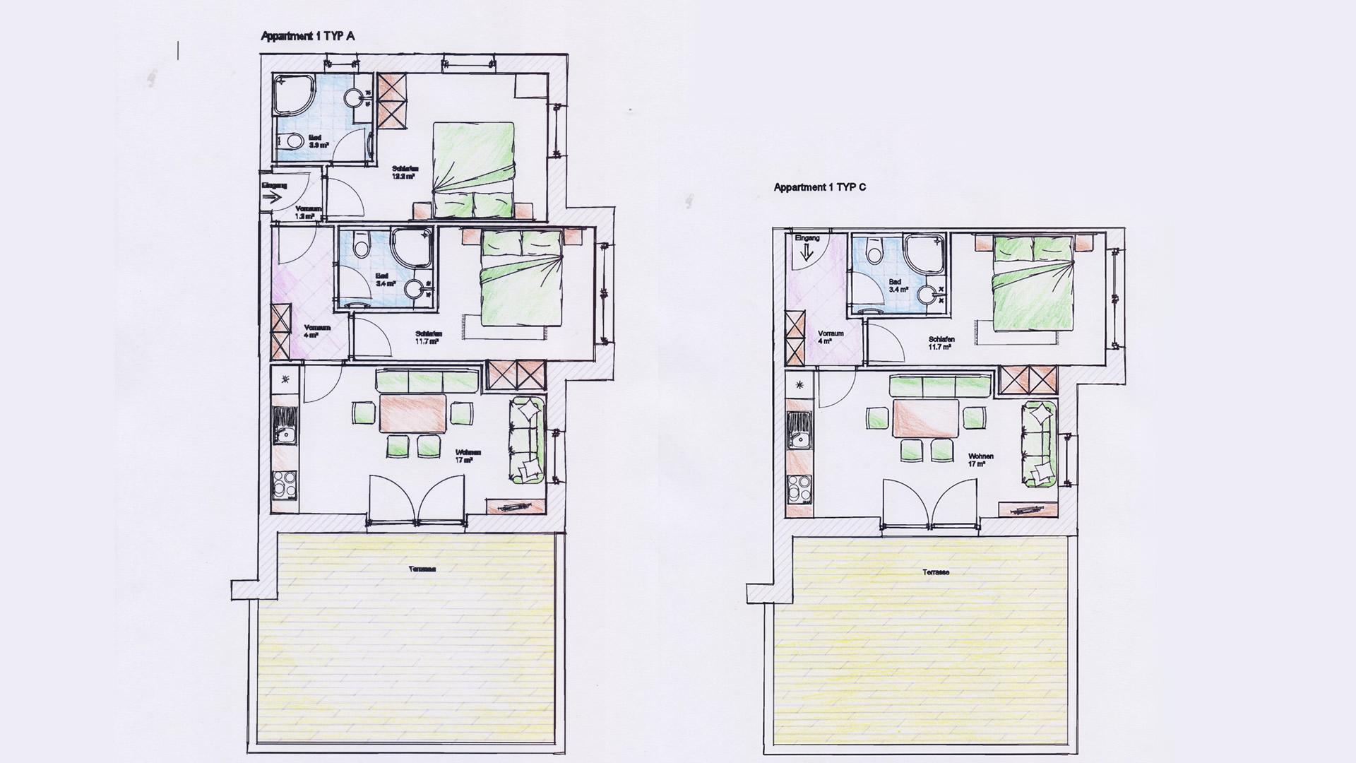 plan 4 appartements